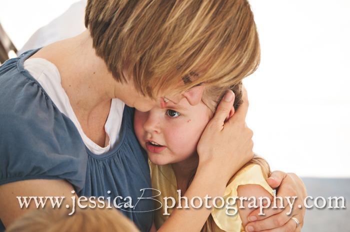 holding mom