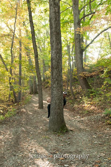 hide behind a tree