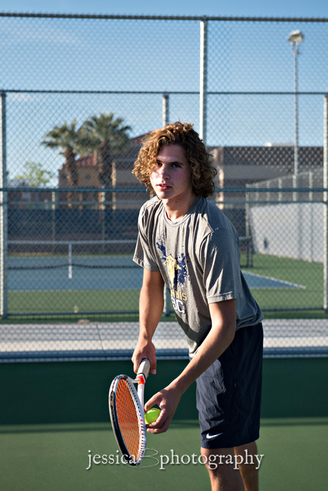 tennis senior portrait guys boulder city high school