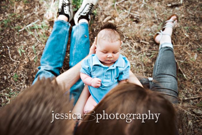 newborn outdoor portrait utah river